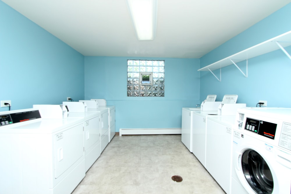 Onsite laundry center at West Line Apartments in Hanover Park, Illinois
