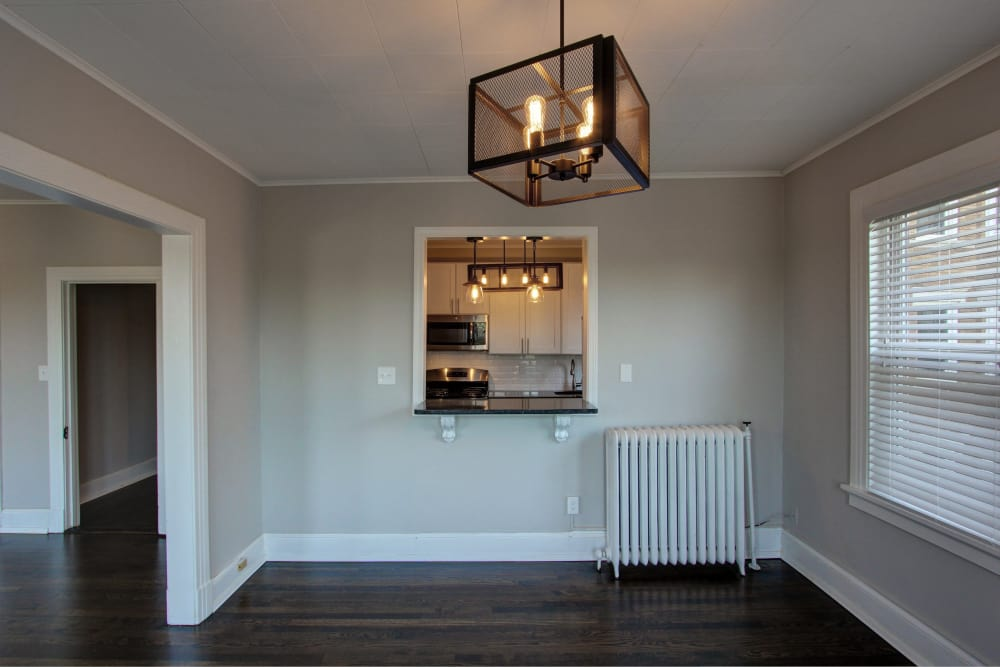 Elegant dining room at West Hartford apartments