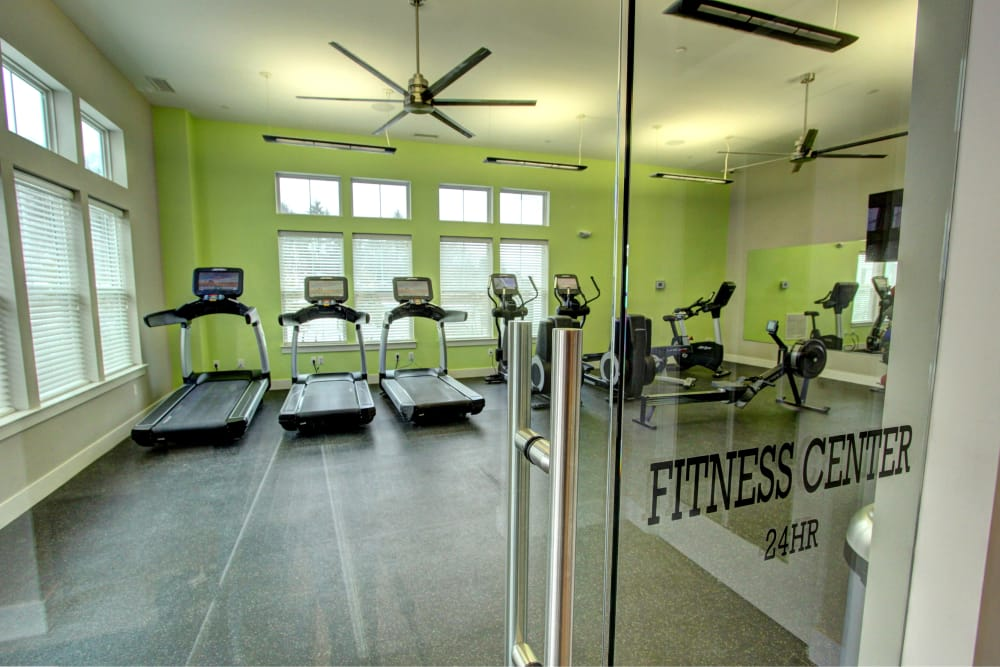 Fitness center at The Pointe at Dorset Crossing in Simsbury, Connecticut