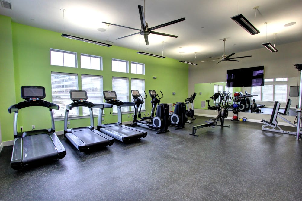 New renovated fitness center at The Pointe at Dorset Crossing in Simsbury, Connecticut