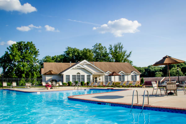 Resident swimming pool at Marchwood Apartment Homes in Exton, Pennsylvania