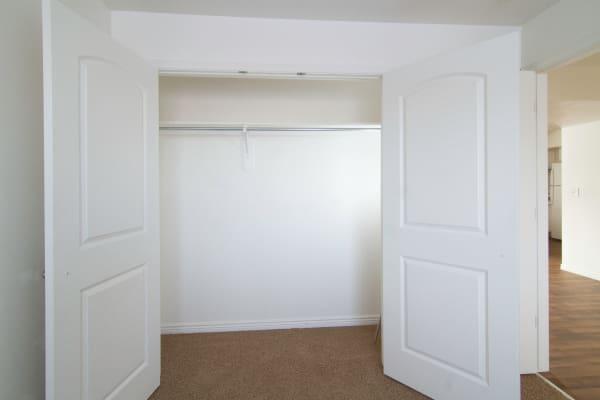 Spacious closet at apartments at Ridgeview Apartments