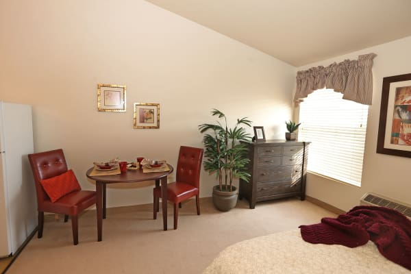 Bedroom at Elk Meadows Assisted Living in Oakley, Utah