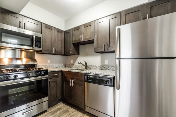 Upgraded kitchen at The Pointe at Ramsgate in San Antonio, Texas