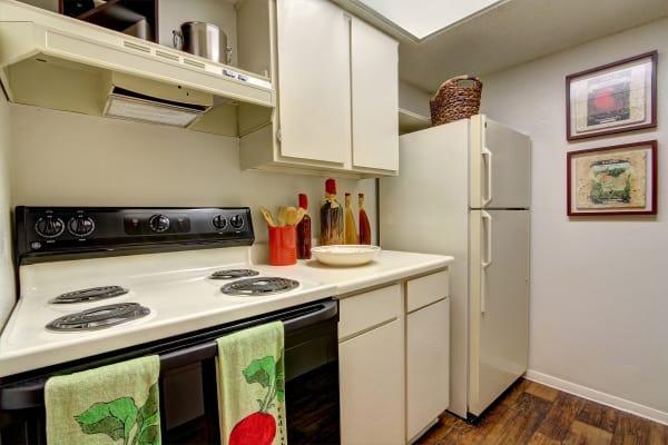Model kitchen at Bridge at Northwest Hills in Austin, Texas