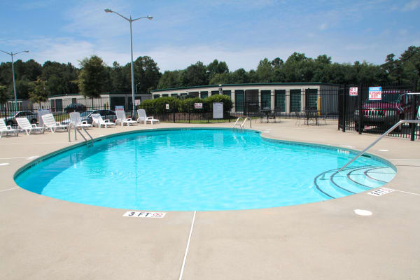 Enjoy a swimming pool at Bone Creek Apartments in Fayetteville, North Carolina