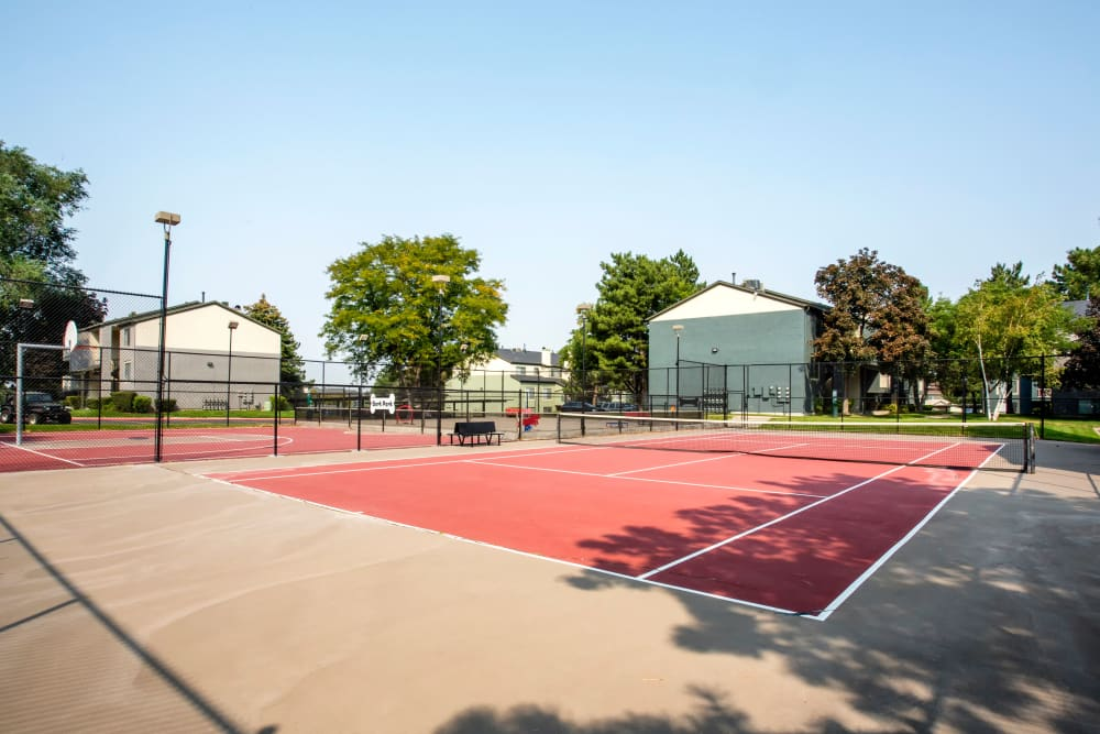 The tennis court at Royal Farms Apartments in Salt Lake City, Utah