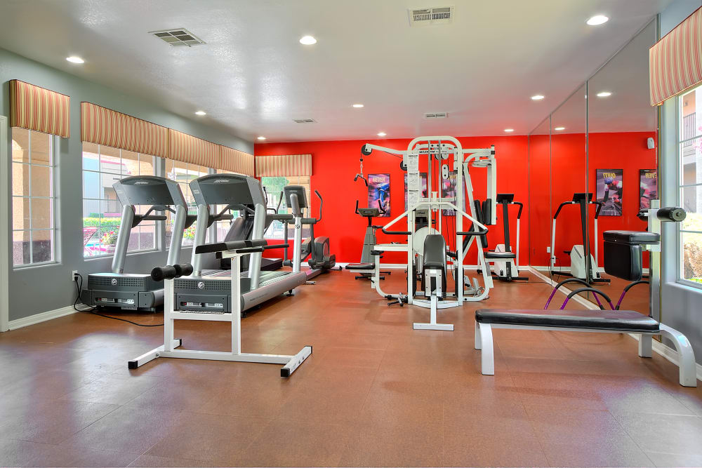 Spacious fitness center at Mariner at South Shores in Las Vegas, Nevada