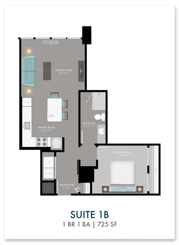 Altitude suite 1B floor plan in Atlanta, GA