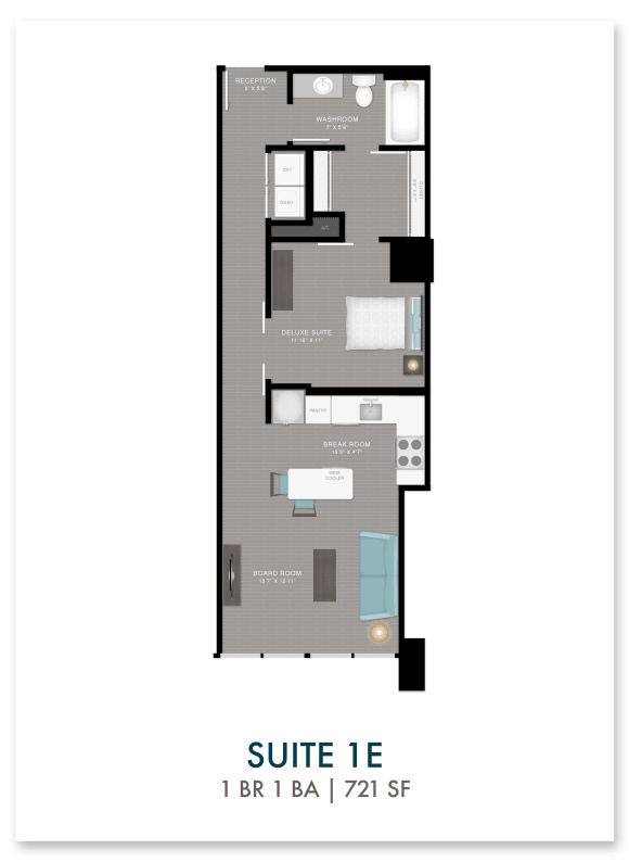 Altitude suite 1E floor plan in Atlanta, GA