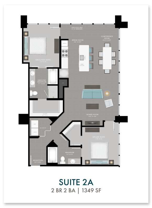 Altitude suite 2A floor plan in Atlanta, GA