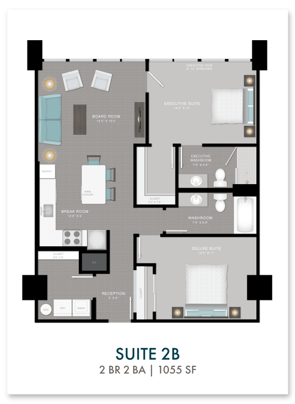 Altitude suite 2B floor plan in Atlanta, GA