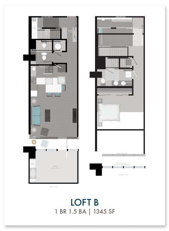 Altitude loft B floor plan in Atlanta, GA
