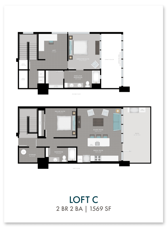Altitude loft C floor plan in Atlanta, GA