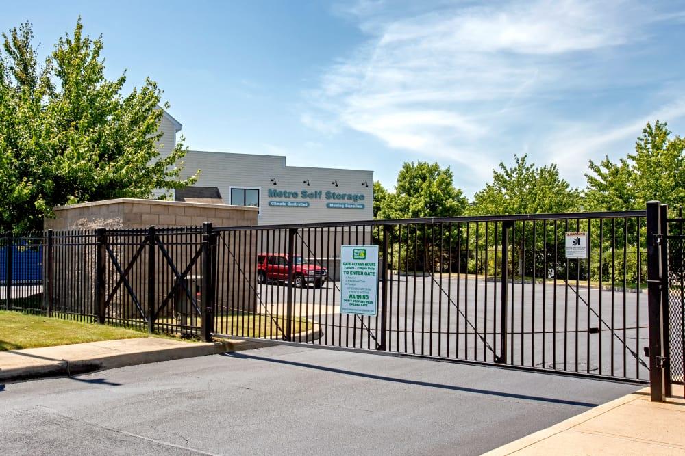 Access gate at Metro Self Storage in Southampton, New York