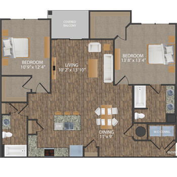 Greene II floor plan at Callio Properties in Chattanooga, Tennessee