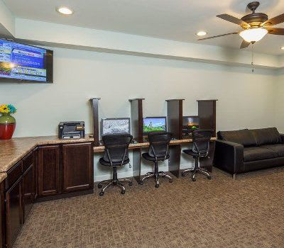 Busineess center at Crescent at Wolfchase home in Memphis, Tennessee