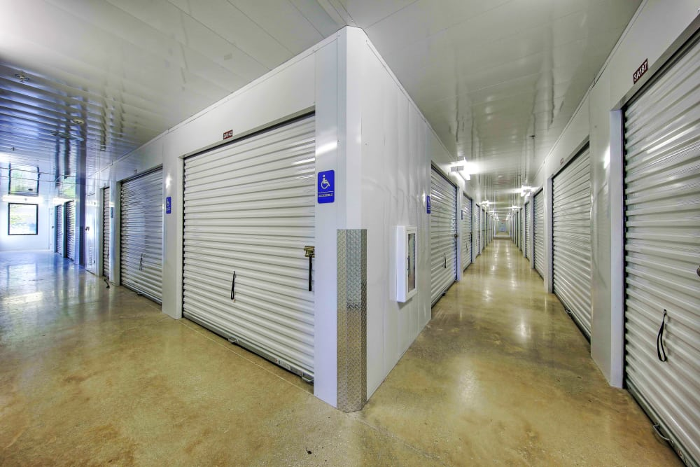 Climate controlled interior storage units at The Keep - Vance Jackson in San Antonio, Texas