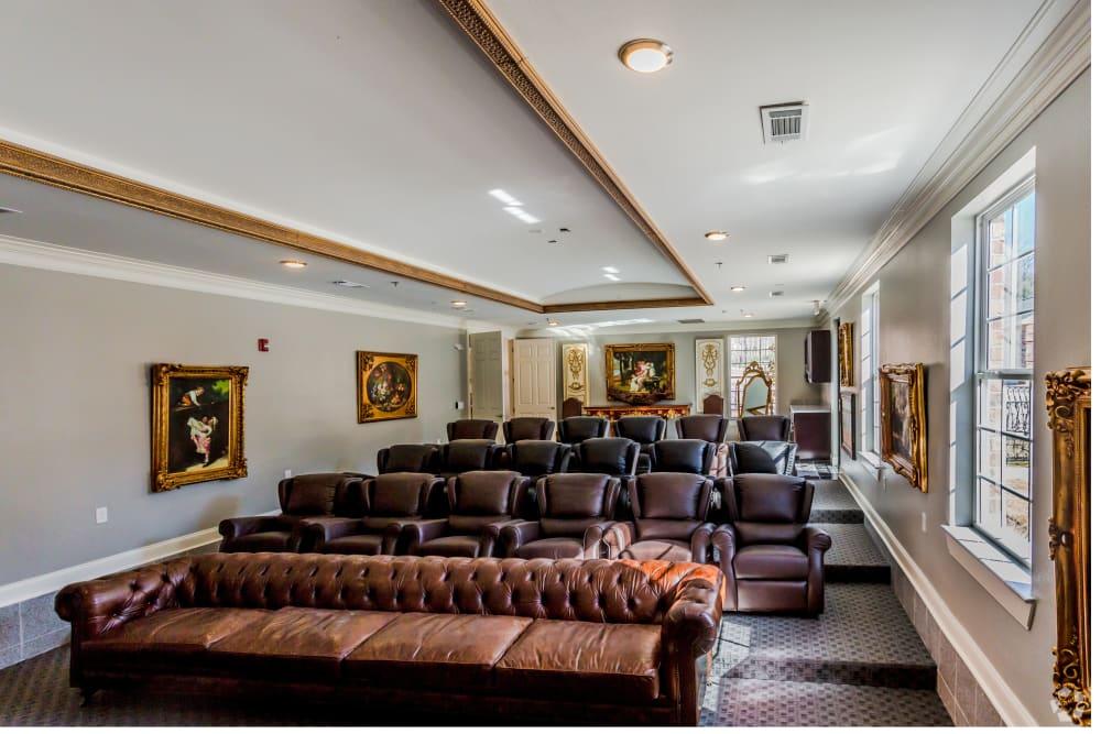 Movie theater at Arlo Luxury Apartment Homes in Little Rock, Arkansas