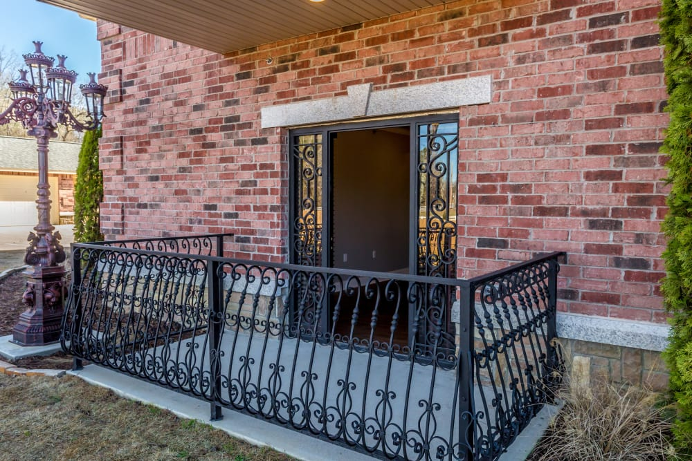 Private balcony at Arlo Luxury Apartment Homes in Little Rock, Arkansas