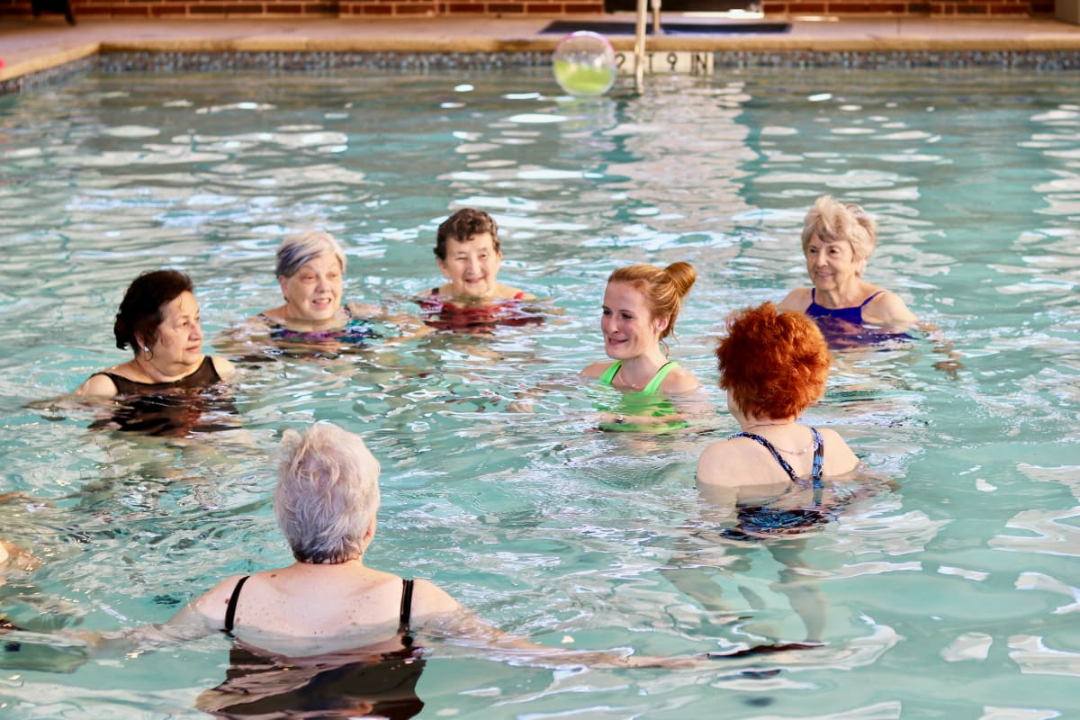 Water aerobics at Isle at Raider Ranch in Lubbock, Texas