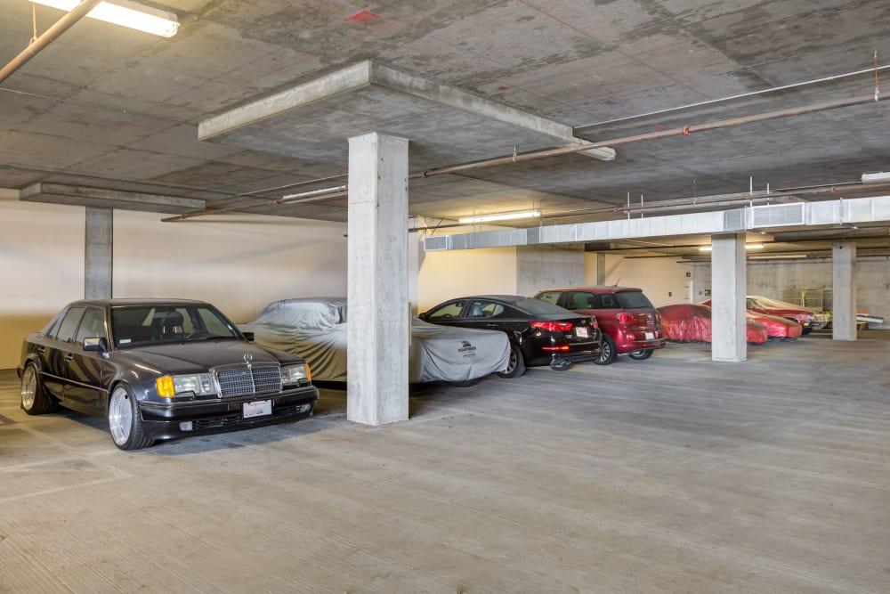 Car storage at Farmers Market Self Storage in Los Angeles, CA