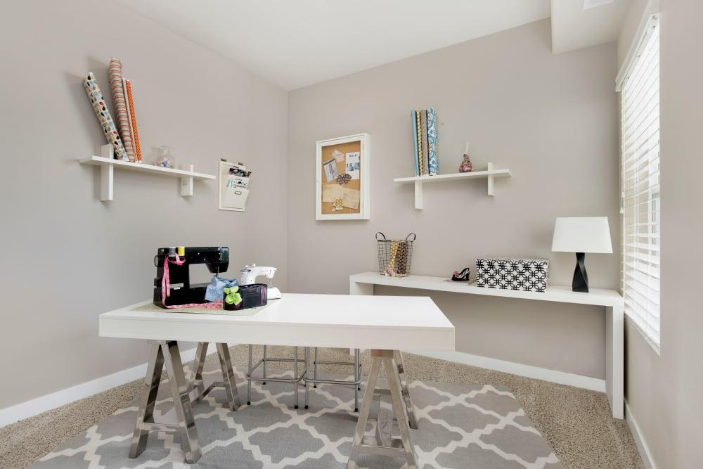 Office room in model home at Olympus at the District in South Jordan, Utah