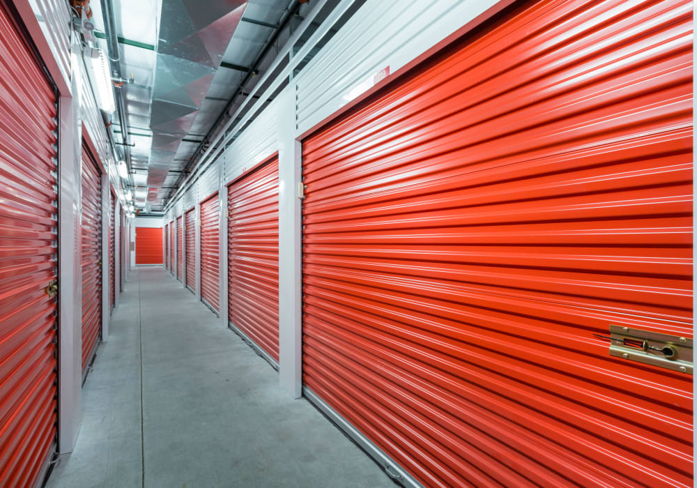 Interior units at Apple Self Storage - Oakville in Oakville, Ontario