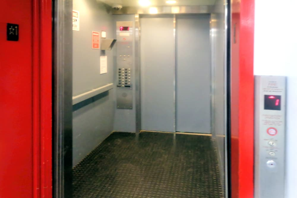 Large elevator at Prime Storage in Boston, Massachusetts