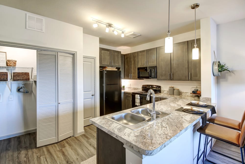 The Emerson at Forney Marketplace in Forney, TX offers a Kitchen