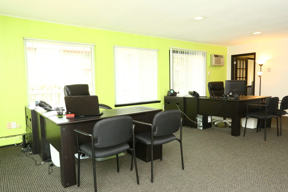 Interior view of leasing office at The Meadows on Cherry Hill in Westland, Michigan