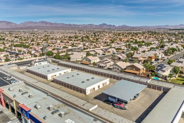 A spanning view of Crown Self Storage in N Las Vegas, Nevada