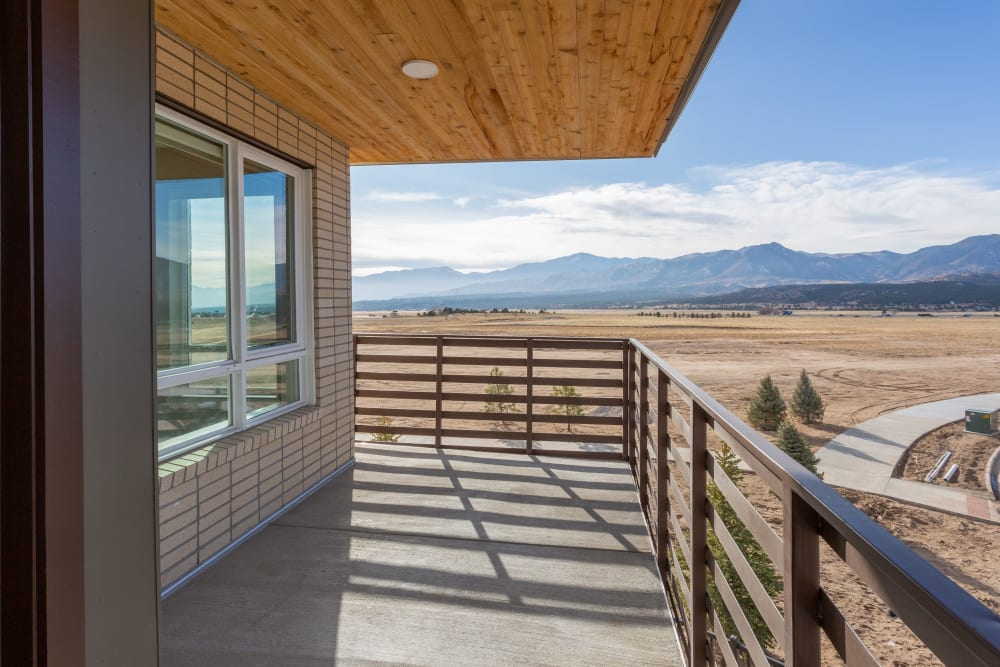Upper deck with a great view at FalconView in Colorado Springs, Colorado
