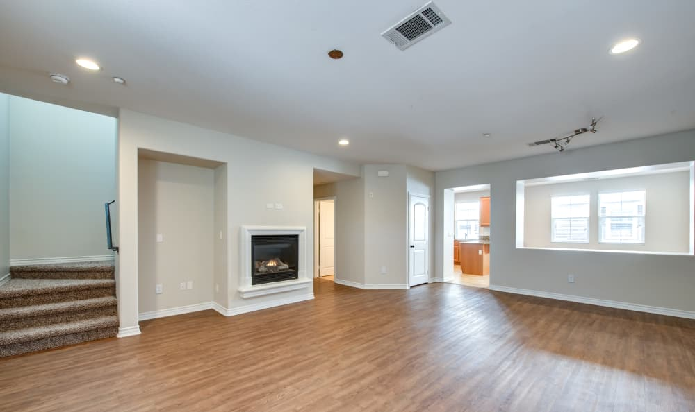 Living room at IMT Rancho Serrano Townhomes in Thousand Oaks, CA