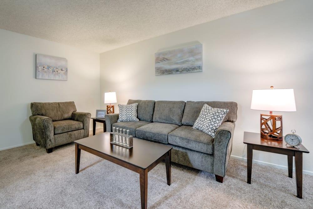 Spacious Living Room at The Newporter in Tarzana, California