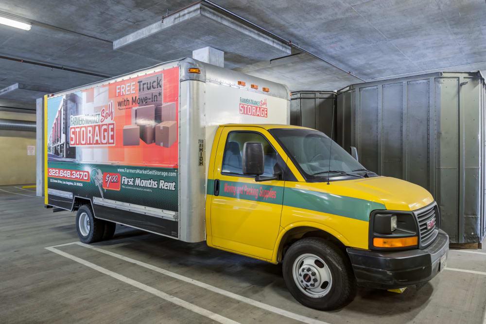Storage truck at Farmers Market Self Storage in Los Angeles, CA