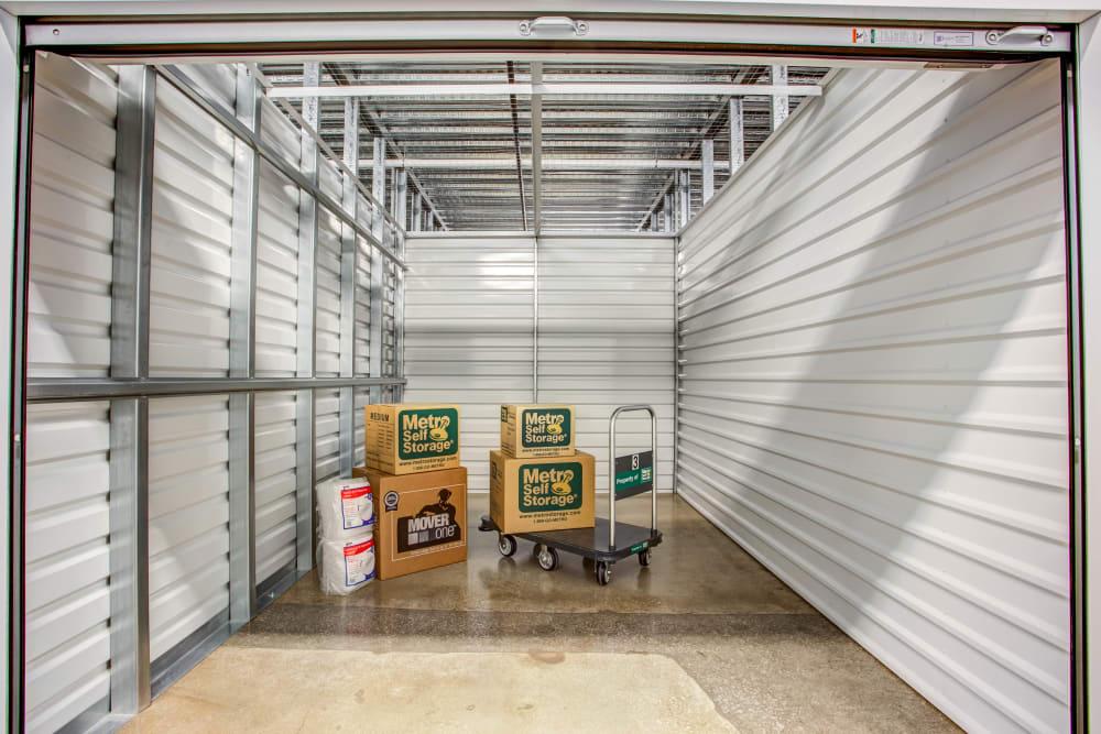 Unit interior view at Metro Self Storage in Skokie, Illinois