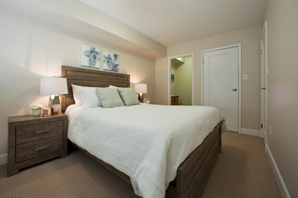 Enjoy a cozy bedroom at StoneCrest Village