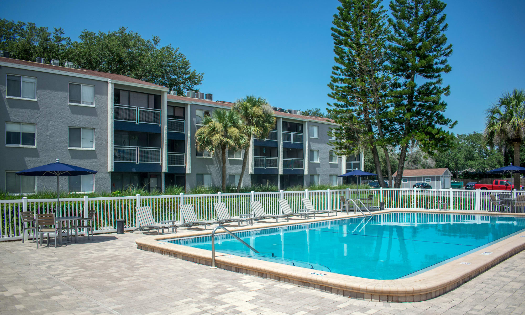 Sparkling swimming pool at Promenade at Edgewater in Dunedin, Florida