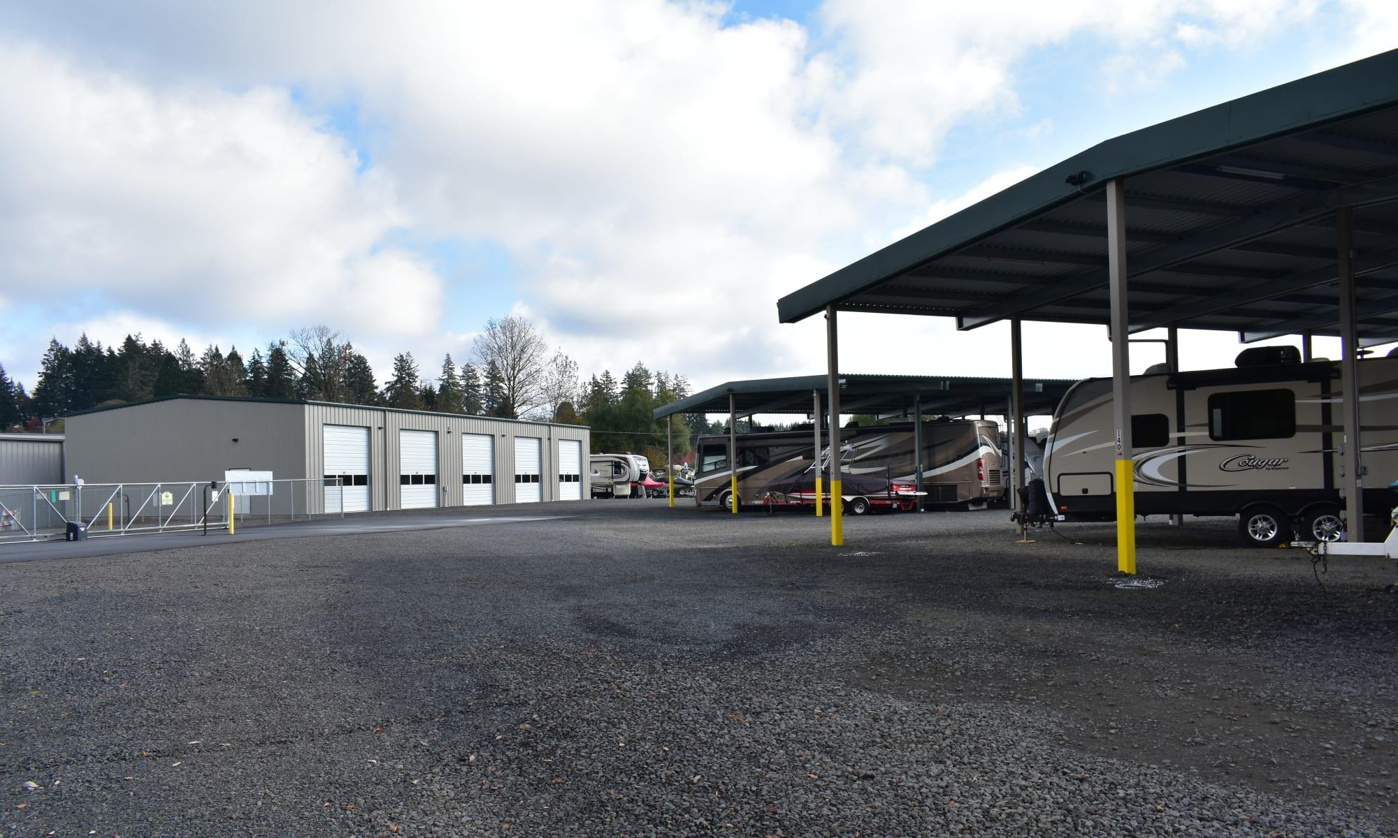 Self storage at Newberg RV Storage in Newberg, Oregon