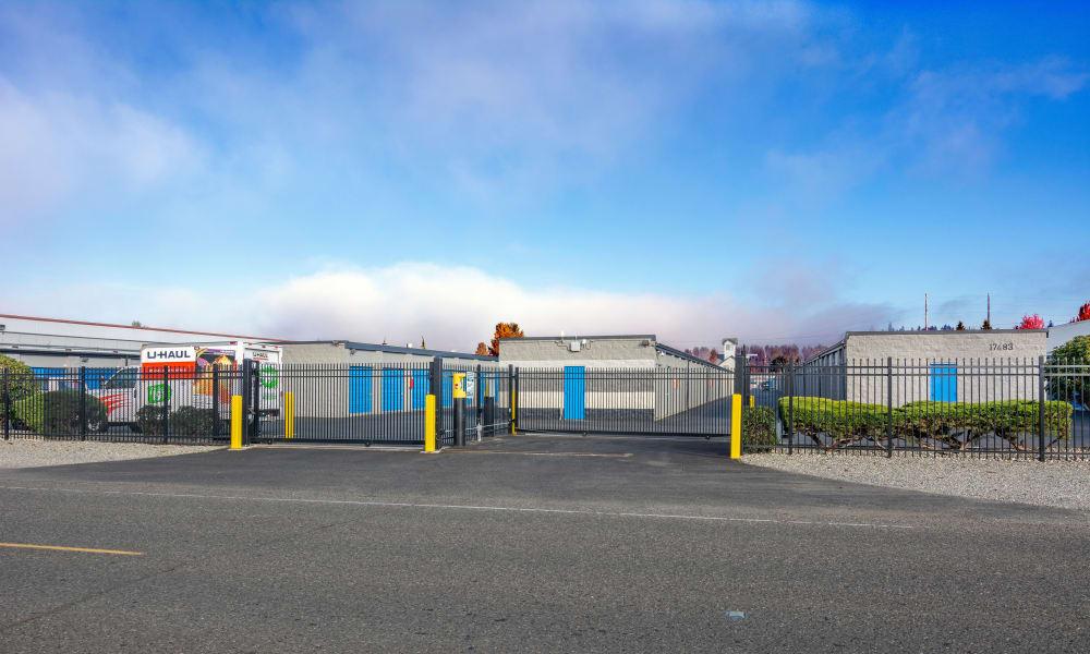Glacier West Self Storage in Washington, exterior storage units
