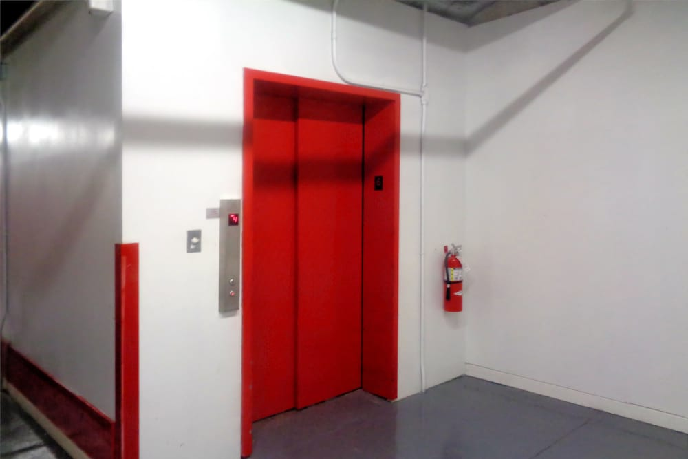 Elevator door at Prime Storage in Boston, Massachusetts