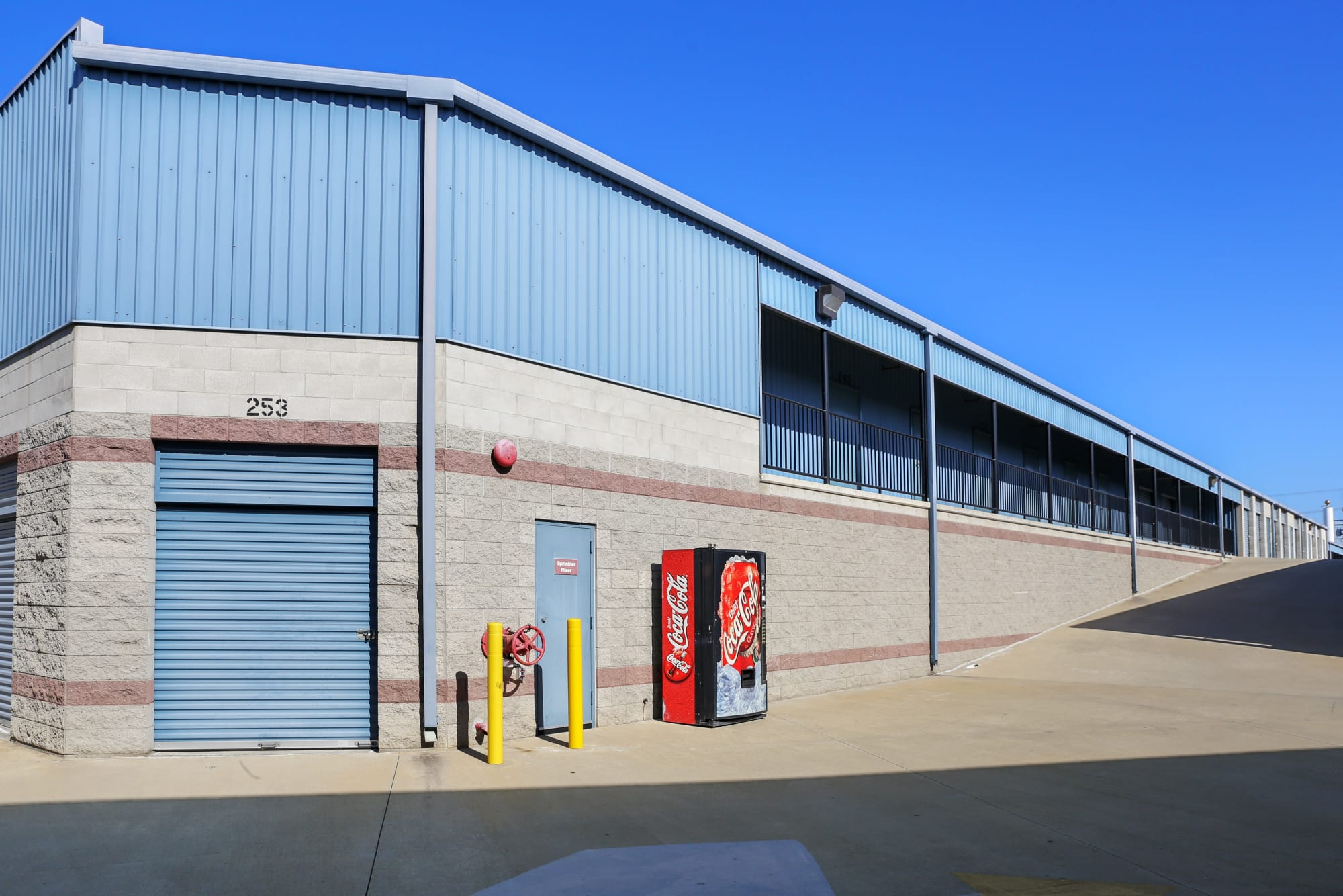 Various sizes of storage units at A-1 Self Storage in Anaheim, California