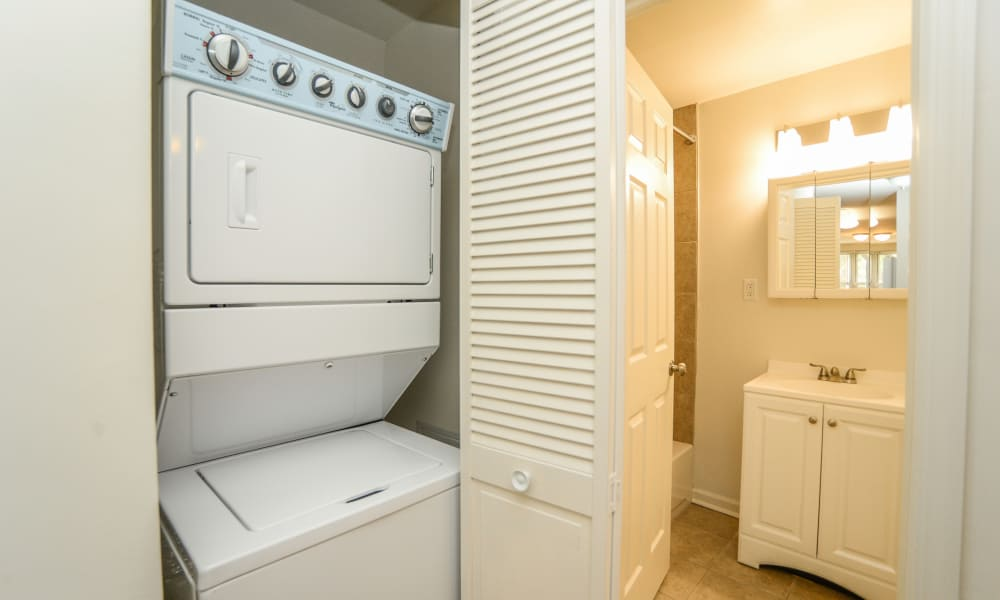 Washer and dry at Westminster Towers Apartment Homes