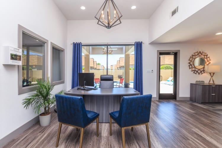 Front desk at The Manchester Apartments in Euless, Texas