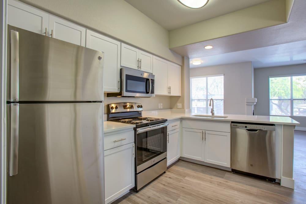 Kitchen at The Retreat Apartments in Phoenix, Arizona
