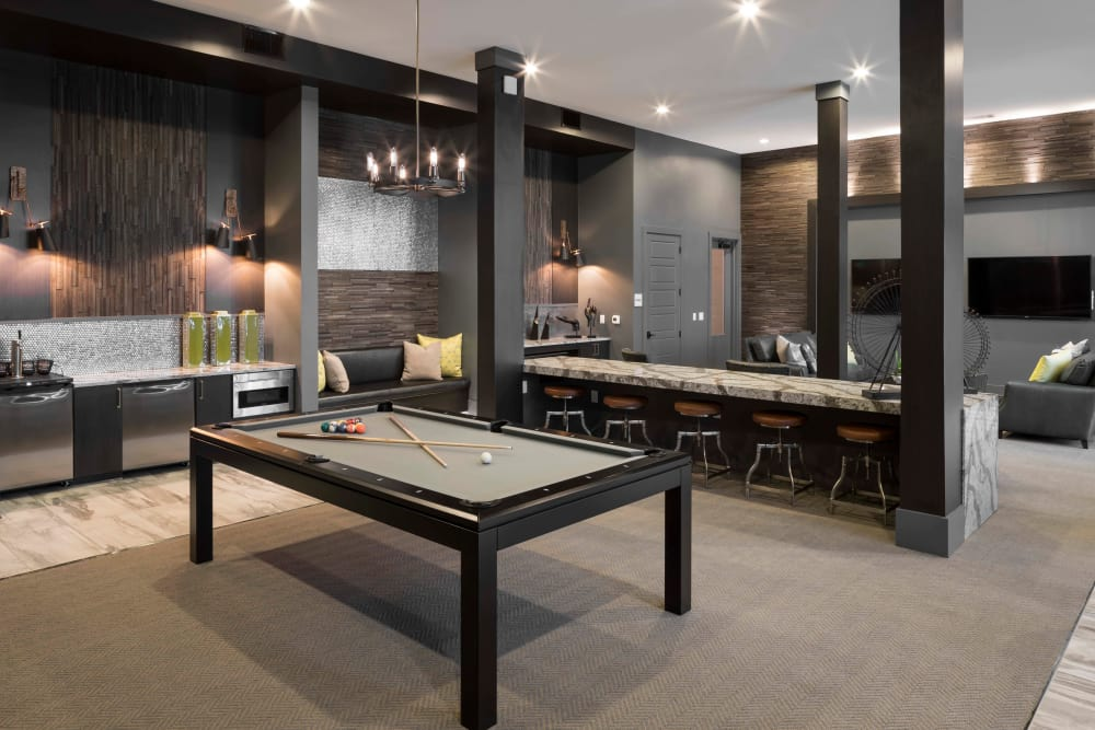 Pool table room in the clubhouse