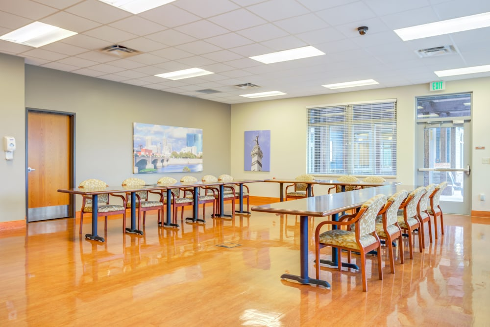An community meeting area at Arlington Place Health Campus in Indianapolis, Indiana