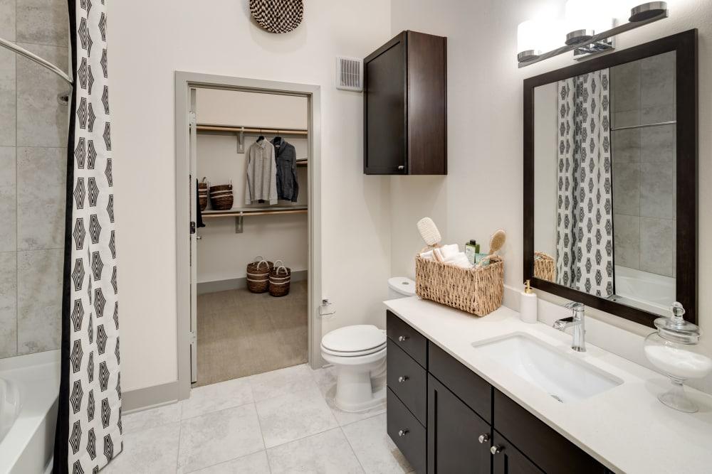 Our apartments in Frisco, Texas showcase a modern bathroom