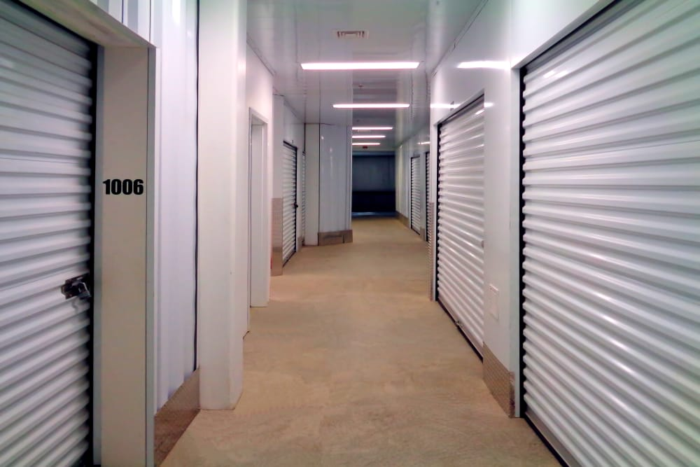 Hallway of units at Prime Storage in Danbury, Connecticut